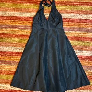 J.Crew Sz12 Dress Silk Black Linen
